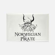 Norwegian Pirate Rectangle Magnet