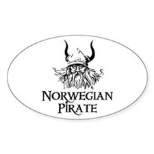 Norwegian Pirate Oval Decal