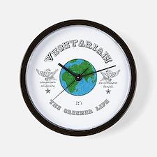 Vegetarian -it's the greener life. Wall Clock