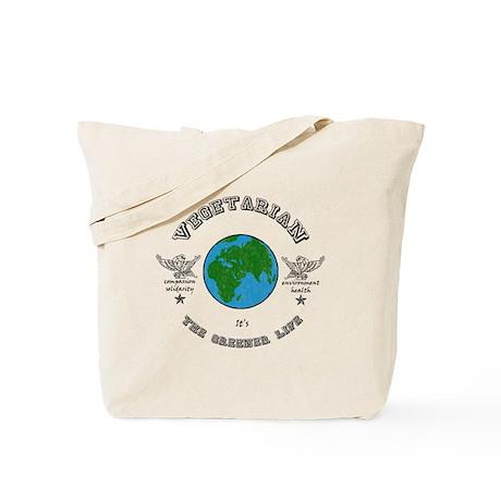 Vegetarian -it's the greener life. Tote Bag