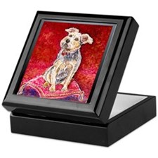 Terrier Mix Dixie Keepsake Box
