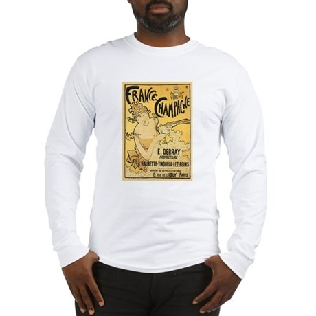 E Debray French Champagne Long Sleeve T-Shirt