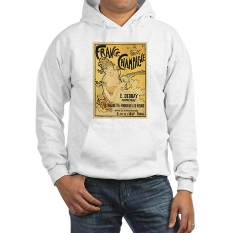 E Debray French Champagne Hooded Sweatshirt