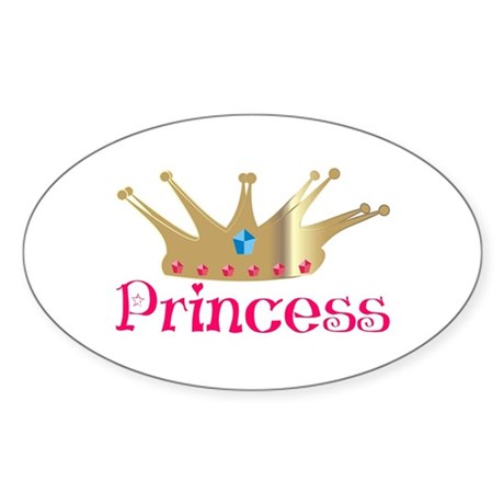 Princess Oval Sticker