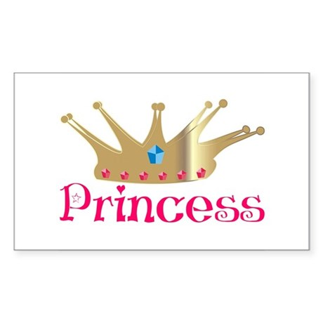 Princess Rectangle Sticker