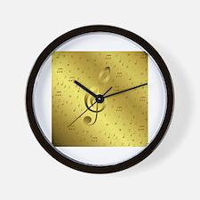 Key signature Wall Clock