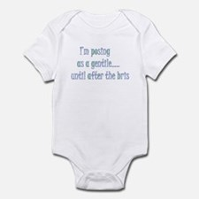 Posing till after the bris Infant Bodysuit