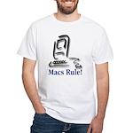 Macs Rule! White T-Shirt