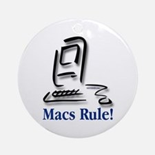 Macs Rule! Ornament (Round)