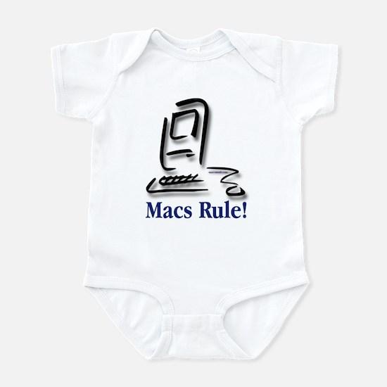 Macs Rule! Infant Bodysuit