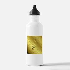 golden music notes Water Bottle