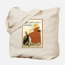 Girl and Cats Vintage Poster Tote Bag