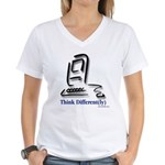 """Think Different(ly)"" Women's V-Neck T-Shirt"