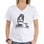 """Kill Windows"" Women's V-Neck T-Shirt"