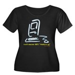 """Kill Windows"" Women's Plus Size Scoop Neck Dark T"