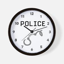 Police Handcuffs Wall Clock