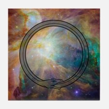 Ouroboros - Cosmic Tile Coaster