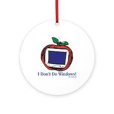 Apple Computer Ornament (Round)