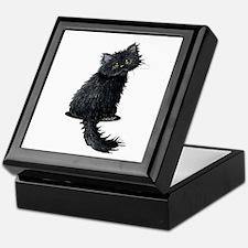 Black Persian Cat Keepsake Box
