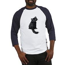 Black Persian Cat Baseball Jersey