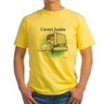 Usenet Junkie #1 Yellow T-Shirt
