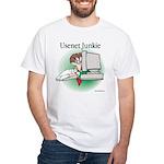 Usenet Junkie #1 White T-Shirt