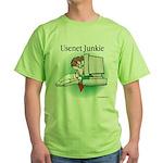 Usenet Junkie #1 Green T-Shirt