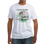 Usenet Junkie #1 Fitted T-Shirt