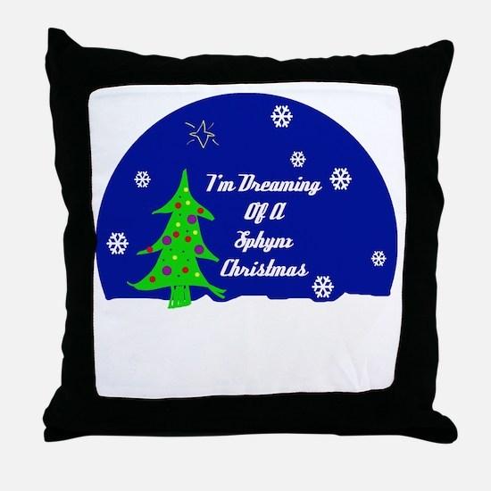 A Sphynx Christmas Throw Pillow