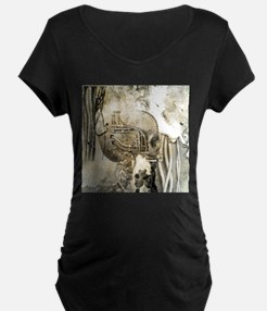 Awesome technical skull Maternity T-Shirt