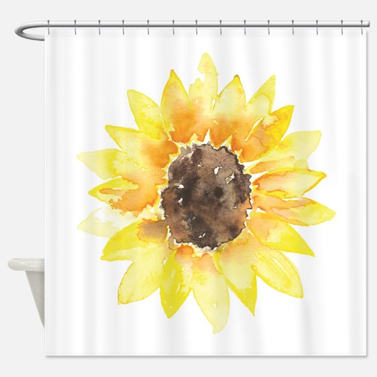 Cute Yellow Sunflower Shower Curtain