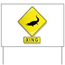 Tylosaurus XING Yard Sign