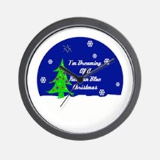 A Russian Blue Christmas Wall Clock