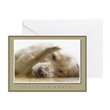 Golden retriever christmas Greeting Cards (10 Pack)