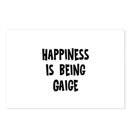 Happiness is being Gaige Postcards (Package of 8)
