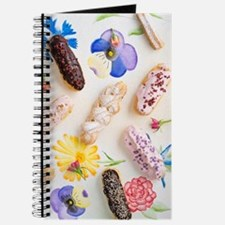 Eclairs with toppings Journal