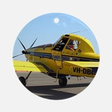 Air Tractor aircraft (yellow and bl Round Ornament