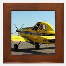 Air Tractor aircraft (yellow and blue) Framed Tile