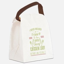 Funny Chicken Canvas Lunch Bag