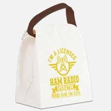 Cute Radio Canvas Lunch Bag