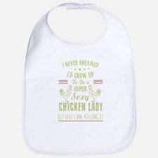 Chicken lady T-shirt Bib