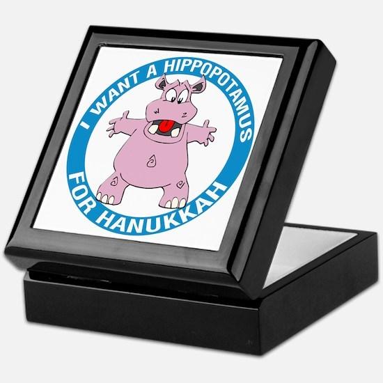 Hippopotamus For Hanukkah Keepsake Box