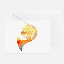 Watercolor Horn Greeting Cards (Pk of 10)