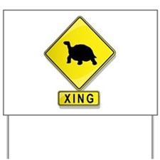 Tortoise XING Yard Sign