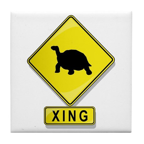 Tortoise XING Tile Coaster