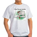 Chat Room Junkie #1 Ash Grey T-Shirt