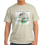 Chat Room Junkie #1 Ash Grey T-Shirt