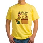 Chat Room Junkie #2 Yellow T-Shirt