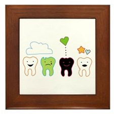 cute teeth Framed Tile