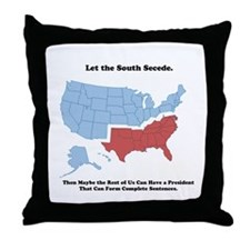 Let the South Secede Throw Pillow